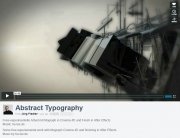 Abstract Typography on Vimeo